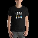 camiseta frag life negro hombre